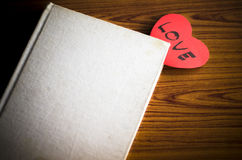 Diary of love Stock Image