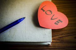 Diary of love Royalty Free Stock Images