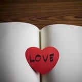Diary of love Stock Photos
