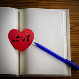 Diary of love Royalty Free Stock Photography
