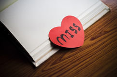 Diary of love Royalty Free Stock Image