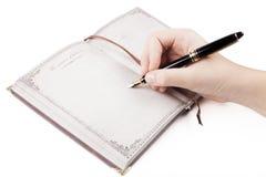 Diary Note Stock Photo