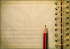 Diary note and pencil ready for writing Stock Images