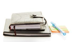 Diary, notepad and scratch paper Royalty Free Stock Photo