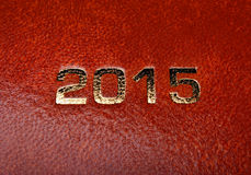 Diary notes agenda 2015 Royalty Free Stock Images