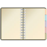 Diary open page Royalty Free Stock Photography
