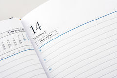 Diary Page Open To Valentine S Day Stock Photos