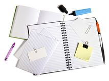 Diary and papers royalty free stock photos