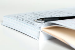 Diary and pen Royalty Free Stock Photo