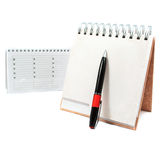Diary with a pen Royalty Free Stock Images