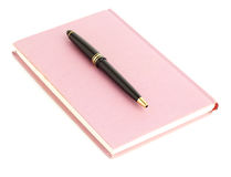Diary and pen Royalty Free Stock Photography