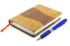 Diary and pen Royalty Free Stock Photos