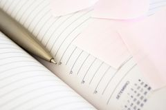 Diary and pen Royalty Free Stock Image