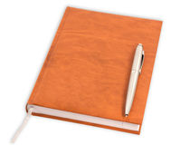 Diary with a pen Royalty Free Stock Photos