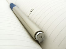 Diary & Pen Royalty Free Stock Image