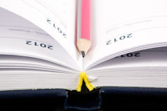 Diary with a pen Stock Photography