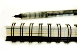 Diary and pen Stock Photo
