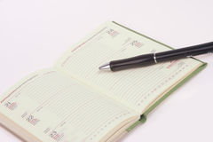 Diary and pen Royalty Free Stock Images