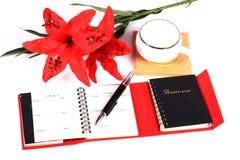 Diary and pen Royalty Free Stock Photo