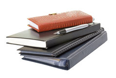 Diary and pen isolated Royalty Free Stock Photos