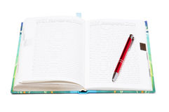 Diary and pen Stock Images