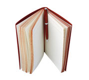 Diary and pen red color Royalty Free Stock Photos