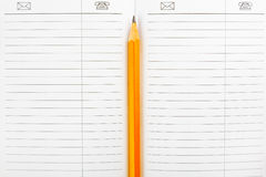 Diary and pencil Stock Photography