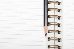 A diary and a pencil Royalty Free Stock Photos