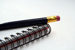 Diary and pencil Stock Image