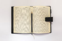 Diary and pensil on a white background Royalty Free Stock Photo