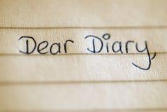 Diary querido Imágenes de archivo libres de regalías