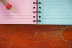 Diary records with Pencil Royalty Free Stock Photography