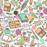 Diary Seamless Pattern Royalty Free Stock Photos