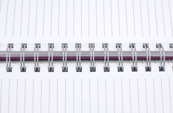 Diary spiral Royalty Free Stock Images