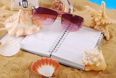 Diary for summer holidays memories Stock Image
