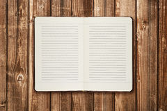 Diary on table royalty free stock photo