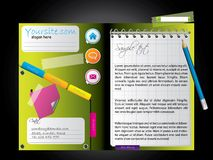 Diary web template Stock Images