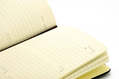 Diary on white background Royalty Free Stock Images
