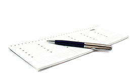 Diary With A Pen Stock Photo