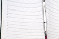 Diary With Pen Royalty Free Stock Photography