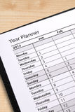 Diary year planner Stock Images