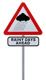 Dias chuvosos adiante fotos de stock