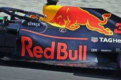 Dias 2018-Circuit Barcelona do teste do Fórmula 1 foto de stock