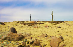 Dias cross. Historic Dias cross in Namib desert Stock Image