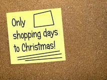 Dias da compra ao Natal - lembrete Fotografia de Stock