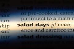 dias da salada fotografia de stock