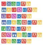 Dias da semana Imagem de Stock