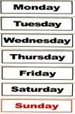 Dias da semana Imagens de Stock Royalty Free