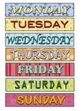 Dias da semana ilustração royalty free