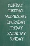 Dias da semana Fotografia de Stock